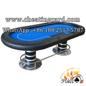 Perspective Poker Table with Cameras for Playing Cards