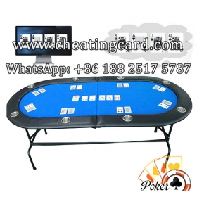 Perspective Poker Table with Cameras for Normal Poker