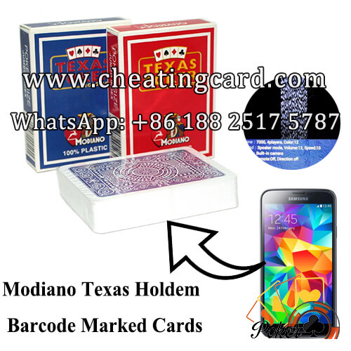 Modiano Texas Hold'em Poker Cheat Marked Cards