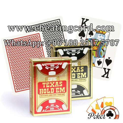 Texas Hold'em Cheat Marked Cards