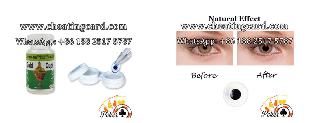Infrared Marked Cards Contact Lenses