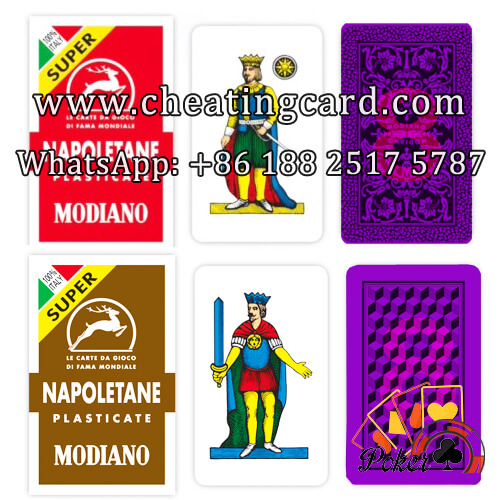 Napoletane Poker Cheat Cards with Marking