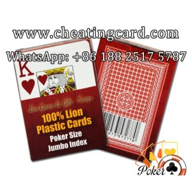 Lion Marked Deck for Poker Contact Lenses / Spy Camera