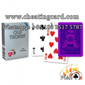 Modiano Old Trophy Marked Cards for Poker Cheating
